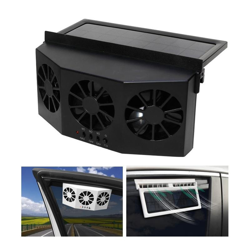 3 Solar Energy Vent Fan Conditioner Air Cooler Cooler Portable Auto Cooling Car Exhaust Fan