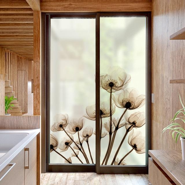 Charmant Fenster Aufkleber Schattierung Wohnzimmer Schlafzimmer Schiebetür Dekoration  Elektrostatische Milchglas Folie Chinese Wind Opaque