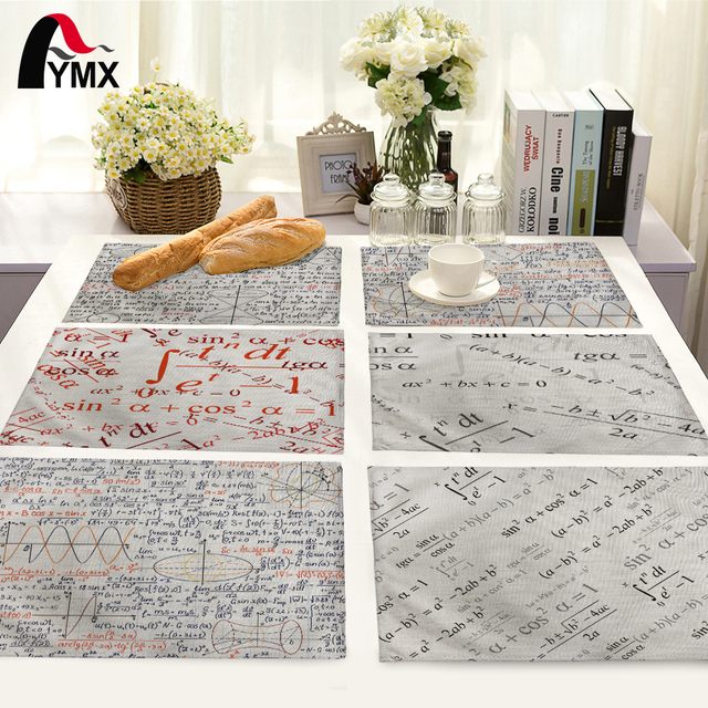 Mathematical Formula Pattern Table Mat Fashion Home Kitchen Decoration  Dinner Tea Coffee Table Mat Table Napkin