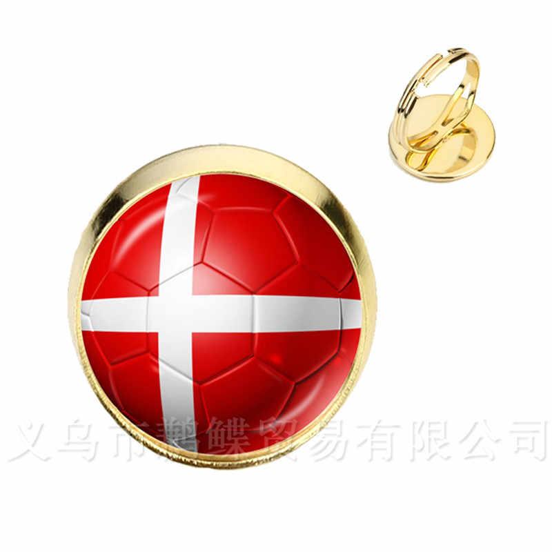 Classic Football Rings 2018 World Cups National Flag Belgium,Brazil,Mexico,Morocco,Peru,Croatia,Korea,Costa Rica,Soccer Gift