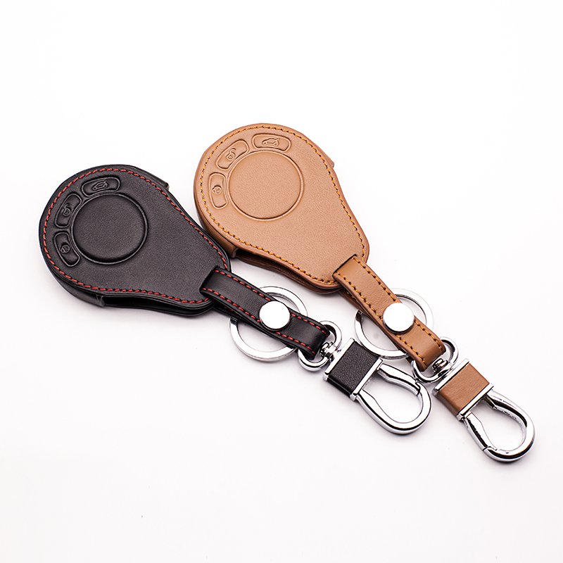 Leather Key Case Cover For BMW Mini Cooper Roadster Key S R55 R56 R57 R58 R59 Cooper Key Duster Auto Parts