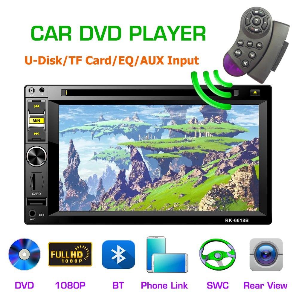 6618B сенсорный экран 6,2 дюймов 2DIN DVD плеер автомобиля gps навигации стерео радио Поддержка TF USB мультимедийный плеер