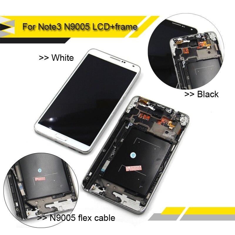 imágenes para Compatible Para Samsung Galaxy Note N9005 3 Pantalla LCD de Pantalla Táctil Digitalizador Asamblea Completa con el Marco Del Bisel Nota3 N9005 LCD