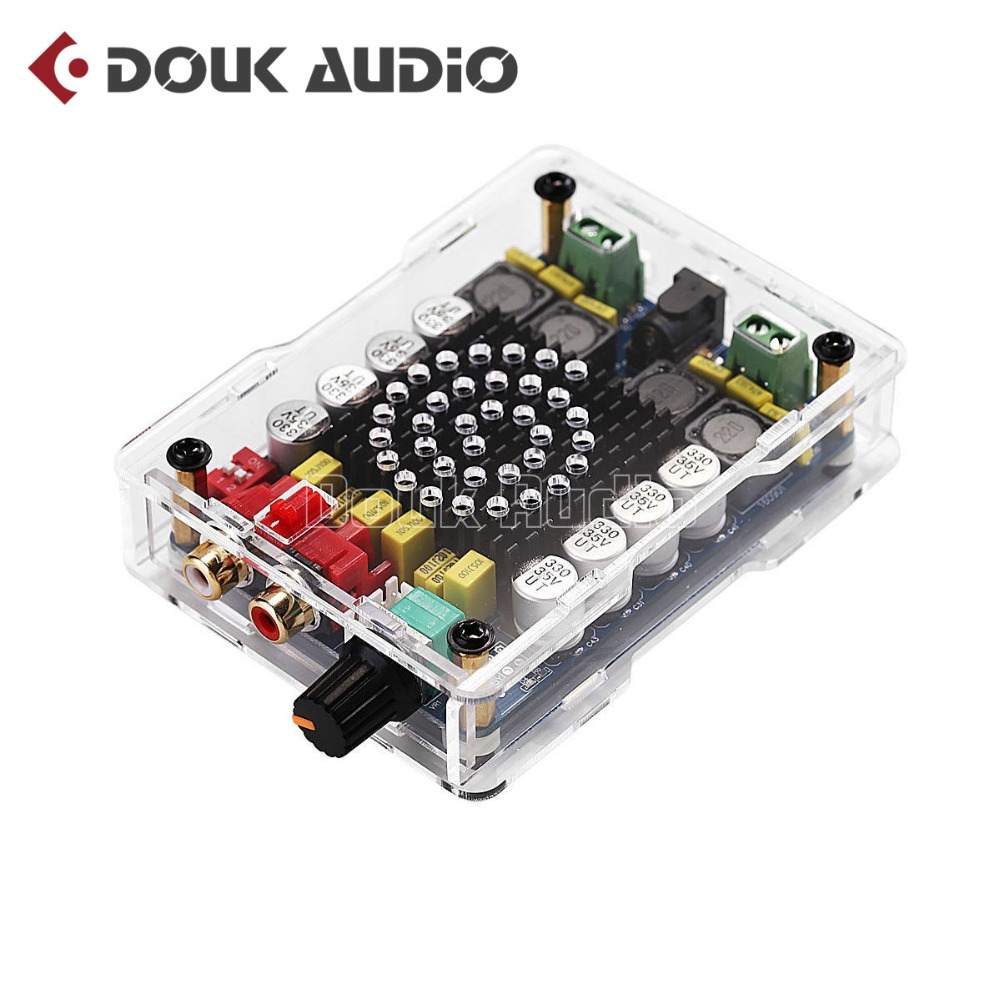 2018 Latest Nobsound Mini Stereo TDA7498 Amplifier Board Digital Power Amp 2*100W With Acrylic Case HiFi DIY KIT Free Shipping