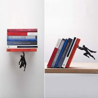 1 pcs New Creative Superman Metal Bookends Book Stopper Holder DC Super Hero Book End