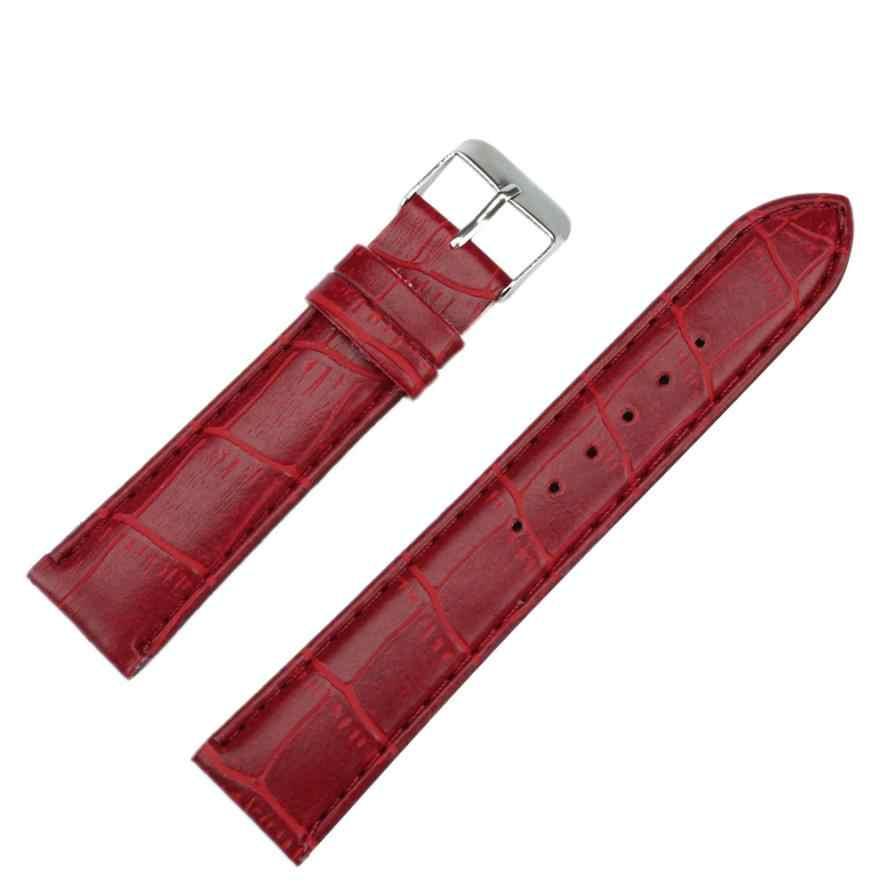 Momento # L05 reloj banda Negro rojo blanco adulto 20 MM Moda hombre reloj mujer reloj correa de cuero reloj banda de alta calidad