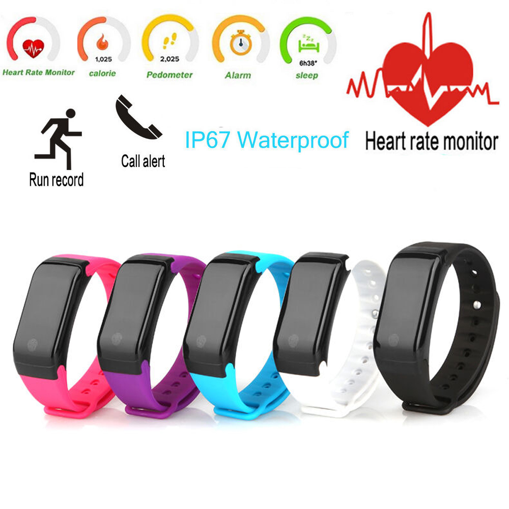 2017 New Heart Rate Monitor Waterproof Fitness Tracker Smart Band Bluetooth Android and IOS Wrist Bracelet