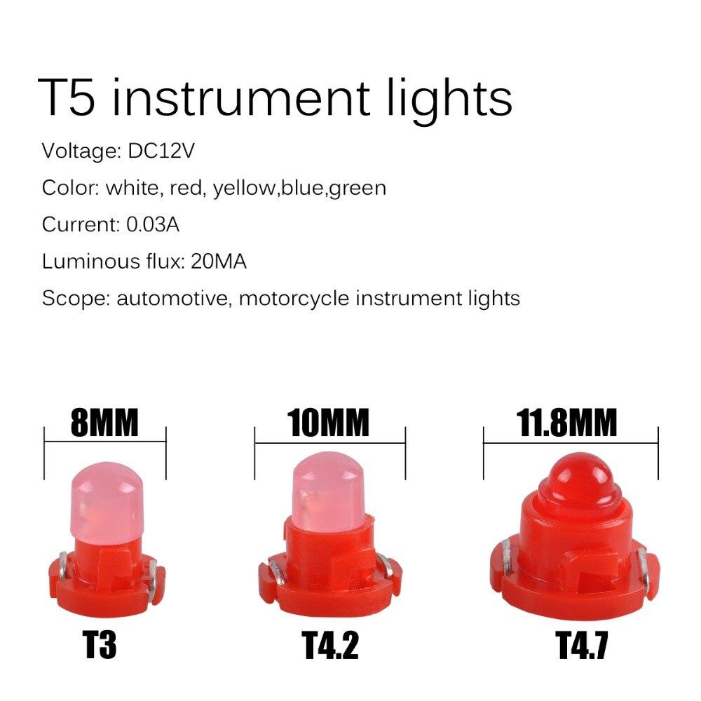 LED Warning Lamp 12V DC Indicator Dashboard Panel Luminous Lamp Driving Bulbs