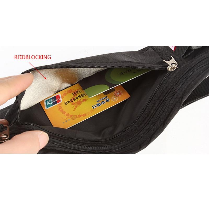 de viagem escondida disfarçado seguro Key Waist Pocket : Waist Pocket