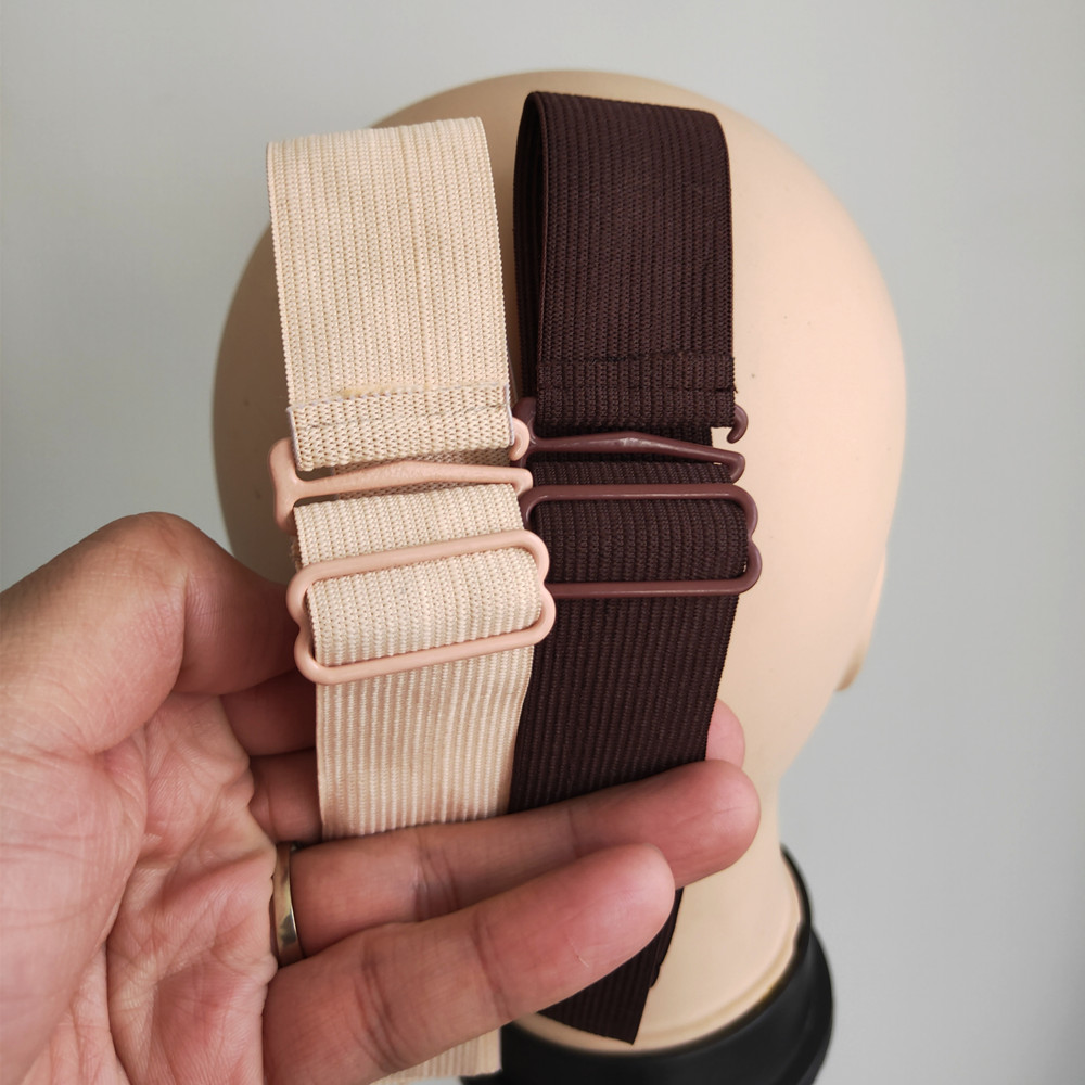 11.11 SALE Adjustable Elastic Band For Wigs Made To Be Sewn Unto Wigs 6pcs Per Lot Black, Brown Beige