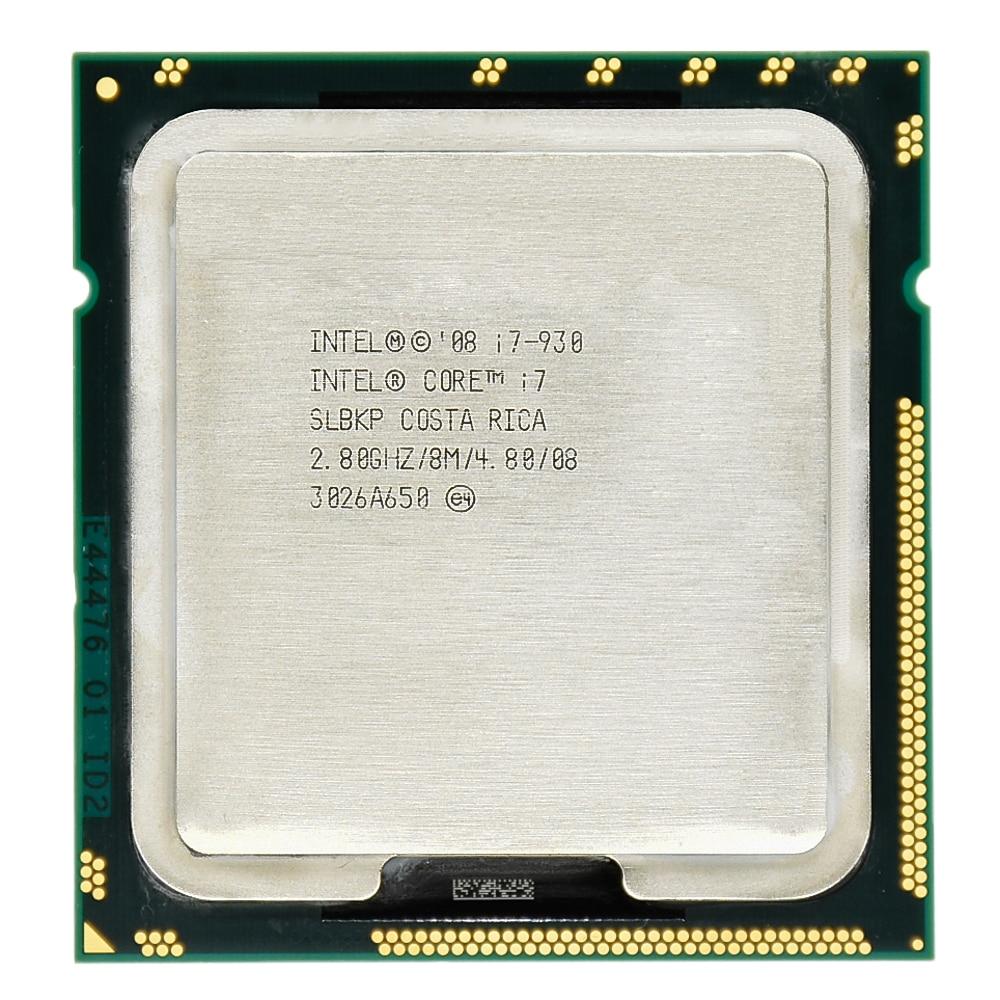 Lntel Quad-Core I7 CPU I7 930 2.8G 8 M Cache 130 W 45NM Processeur De Bureau