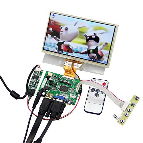 7'' LCD TFT Monitor Screen with Touchscreen Digitizer with Remote Raspberry Pi Driver Control Board 2AV HDMI VGA finesource 7 1280 x 800 digital tft lcd screen driver board for banana pi raspberry pi black