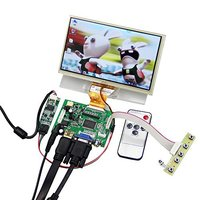 7'' AT070TN90 LCD TFT Monitor Screen with Touchscreen Digitizer with Remote Raspberry Pi Driver Control Board 2AV HDMI VGA