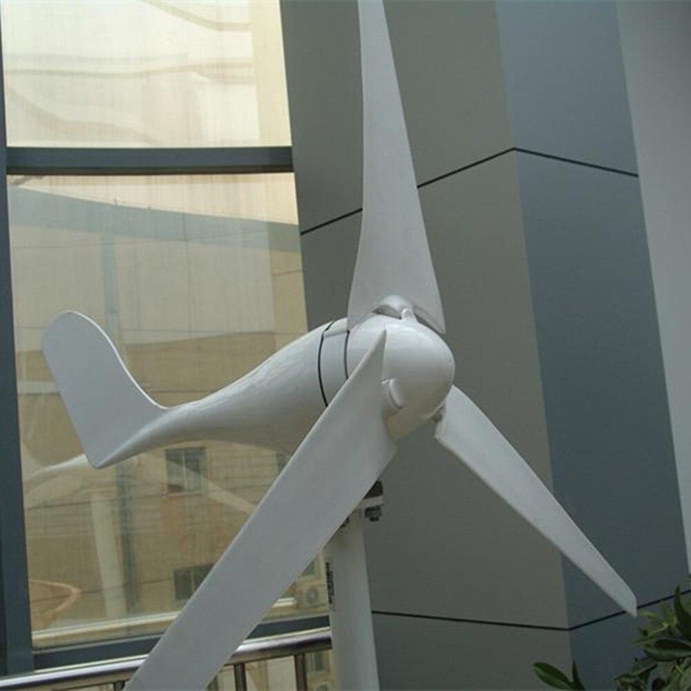 Offre spéciale 5 3 pales 400 W 12 V 24 V éolienne avec contrôleur de Charge étanche Kits de générateur de vent à usage domestique
