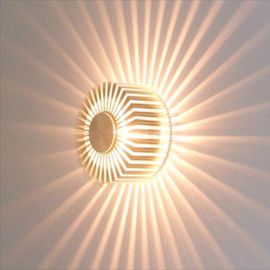 3W Creative Flush Mounted LED Wall Light For Home Decor ... on Wall Mounted Decorative Lights id=43581