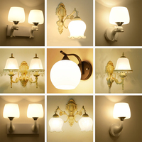 Iron Wall Lamp LED Living Room Wall Mounted Indoor Lighting Lights 110 220v Modern Flexible Wall Light Gold Glass Sconces