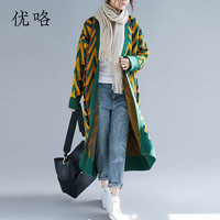 Women Korean Winter Knitted Sweater Loose Plus Size Long Cardigan Cashmere Sweaters Oversized Knit Cardigan Jacket Coat 5XL 2018