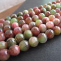 "Free Shipping 16"" Full strand 6mm 8mm 10mm Natural Stone beads Charm Beads Brown and Green Color for jewelry making"