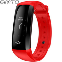 2017 Gimto Smart Watch Wristband Fitness Bracelet Touch Pedometer Heart Rate Monitor Intelligent Bracelet Fitness Tracker