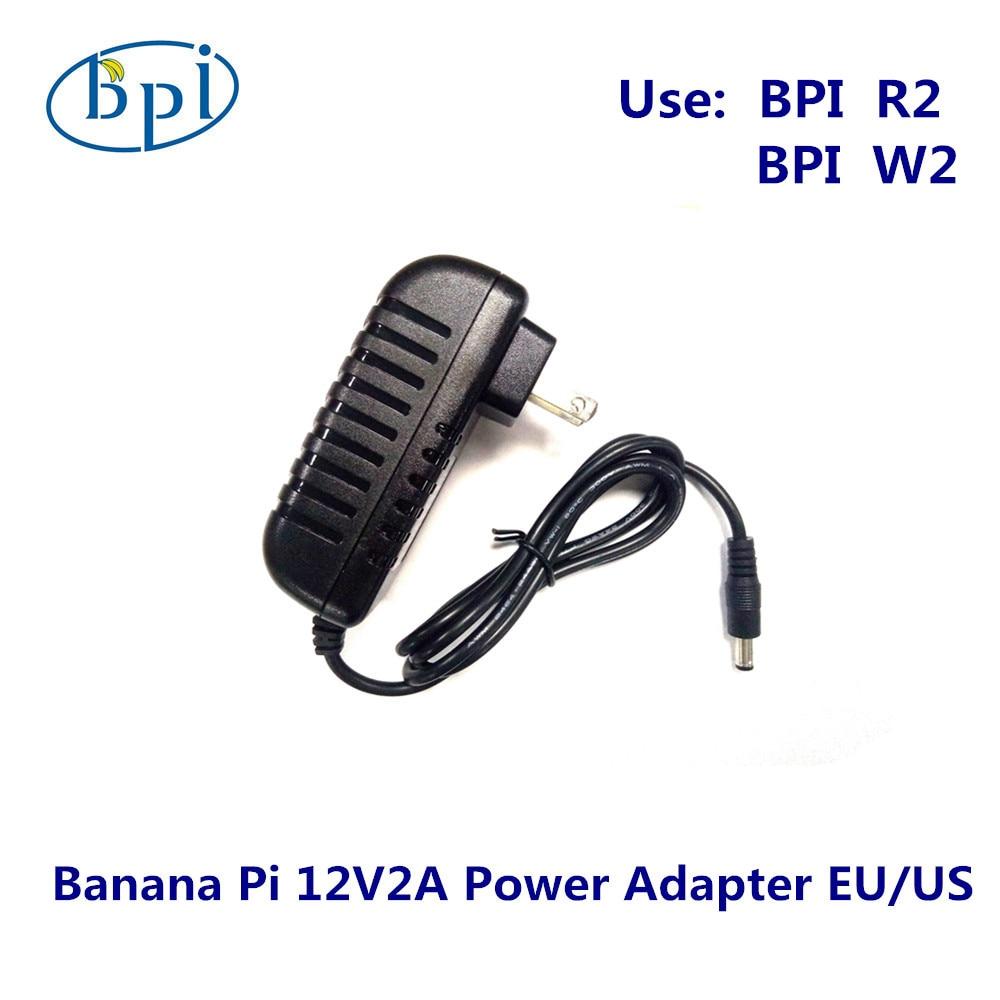 Banana PI R2/W2 12V2A DC Power Supply/Adapter With EU,US Plug