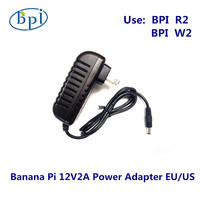 Banana PI R2/W2 12V2A DC Power Supply/Adapter with EU,US plug