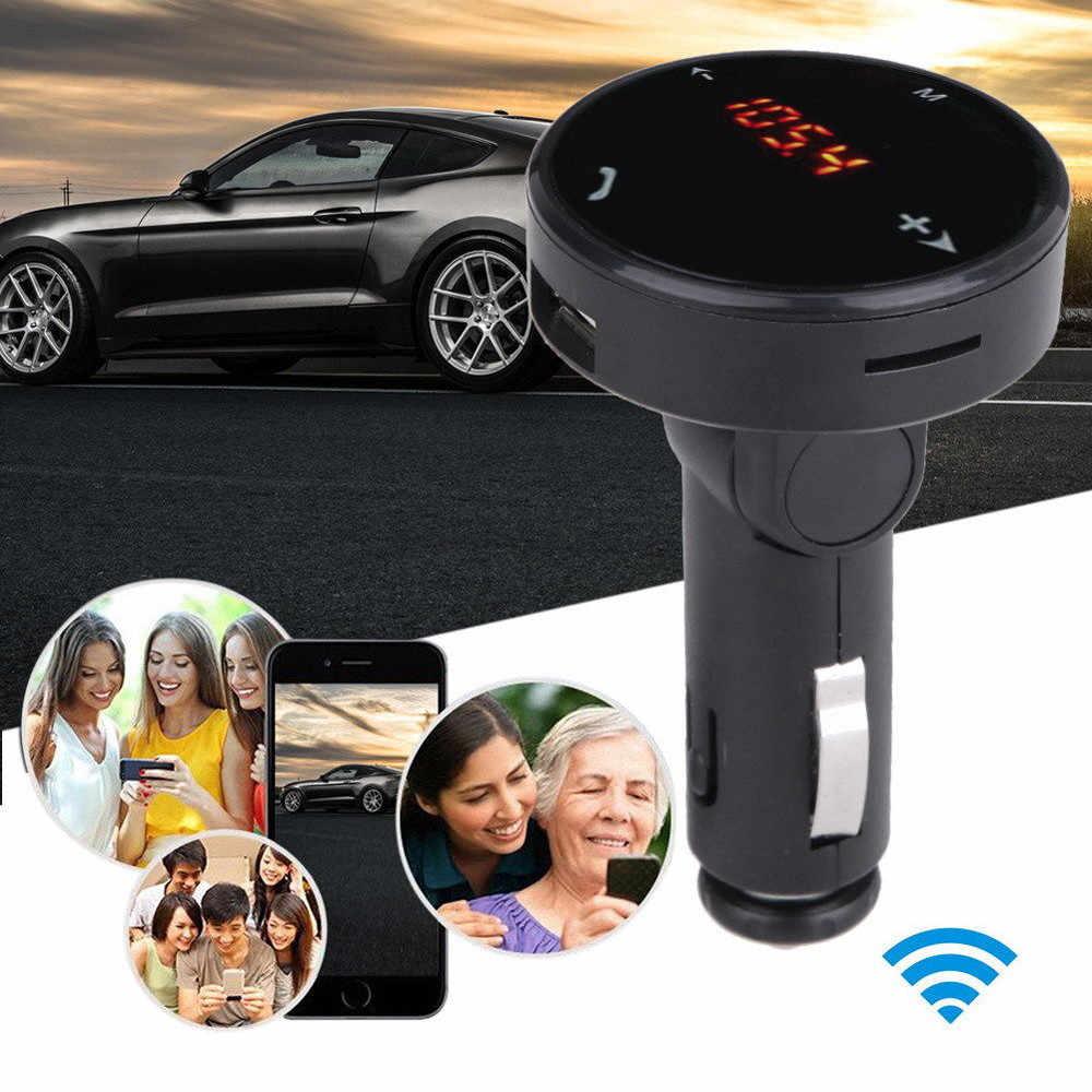 شحن مجاني سيارة لاسلكية عدة مشغل MP3 راديو بلوتوث FM الارسال SD USB عن بعد دروبشيب