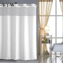 1pcs Waterproof Mildew White Shower Curtains Bathroom Curtain Large Hotel Heavy Weight Bath Screens