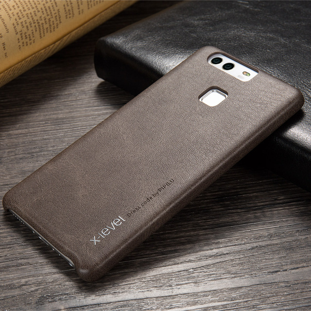 2017 X-Level PU leather For Phone Case Huawei P9 Plus Back Cover For Huawei P9 Cases Phone Accessories Business Vintage Simple