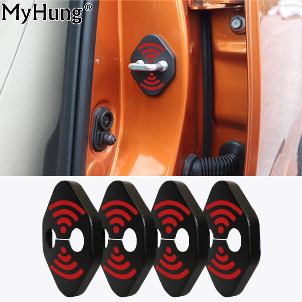 DIY Lock Sticker Car Door Lock Cover Fit For Toyota GT86 Alphard  Aygo Avensis Avalon 4 Pcs Per Set Car Styling Accessories