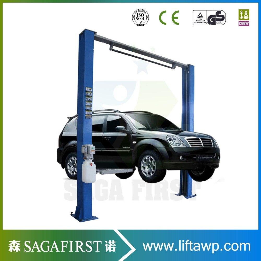 Asymmetric Column Clear Floor Lift 2 Post Car Lift