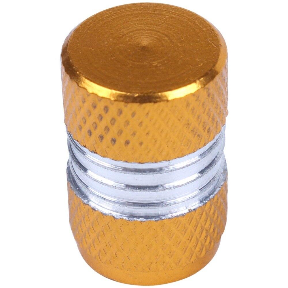 Хорошее дело 4 шт. Алюминий сплава автомобиля колеса мотоцикла шин клапана Кепки Пылезащитный Чехол желтый