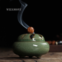 WIZAMONY New Arrival Longquan Celadon Buddhism Incense Burner Alloy Incense Burner Sandalwood Censer Home Decor Free Shipping