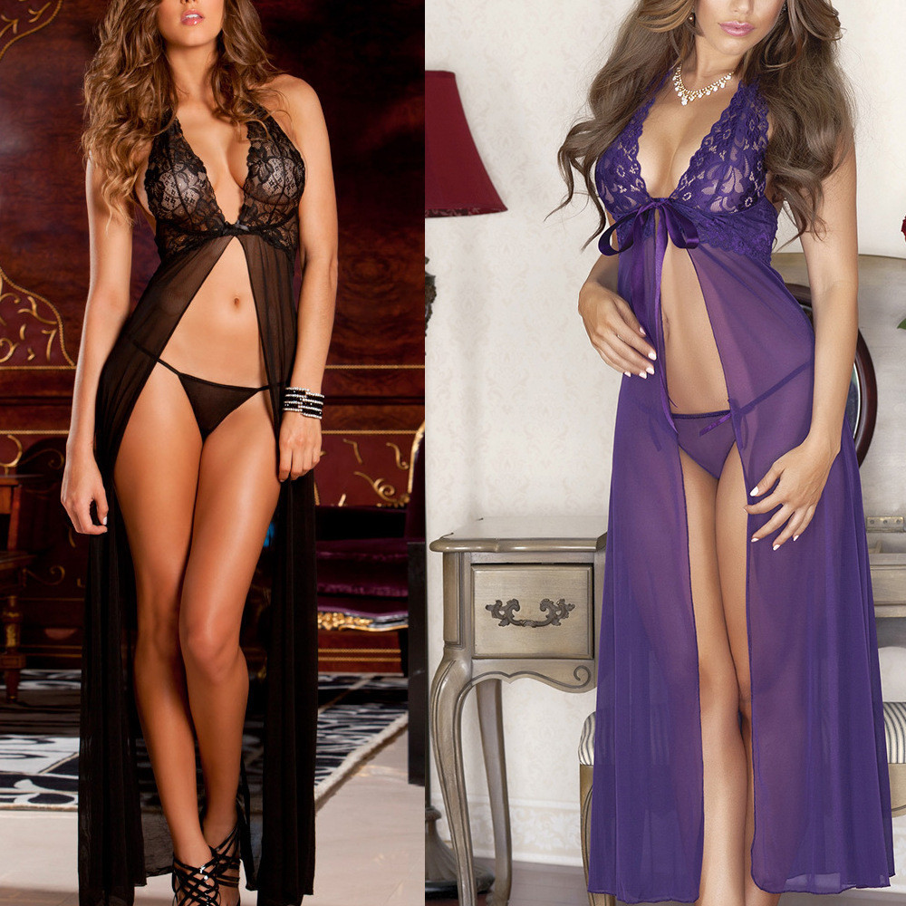 Baby Doll Sexy Lingerie Plus Size See Through Lace Sleepwear Porn Dress Deep V Neck Hot Erotic Babydoll Sexy Underwear Costumes