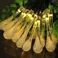 6 M Luz LED de Cadena Solar Luces de Hadas Impermeable de Alta Brillante Cadenas de Iluminación Al Aire Libre Decoración Del Partido De Navidad de Vacaciones