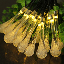 6M Solar LED String Light Waterproof Fairy Lights High Bright Outdoor Lighting Strings Party Decoration For Christmas Holiday