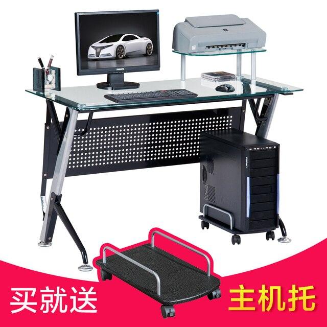 Actel house minimalist modern glass office desk computer desk corner ...