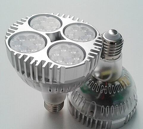 Livraison gratuite 40 W PAR30 lumière led E27 AC85-265V led spot lumière bon pour le diamant et la bijouterie magasin cool/pur blanc/blanc chaud