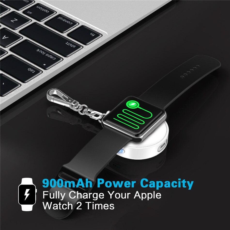 bilder für 900 mah mfi certified wireless-ladegerät magnetic charging dock station externe batterieleistungbank für apple watch mit schlüsselanhänger