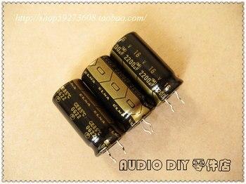 цена на 2019 hot sale 10pcs/30pcs ELNA black gold RA2 series 2200uF/16V audio electrolytic capacitors free shipping