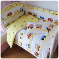 7 unids juego de cama cuna 100% algodón tope invierno ropa de cama incluye almohada bumpers toddler bedding