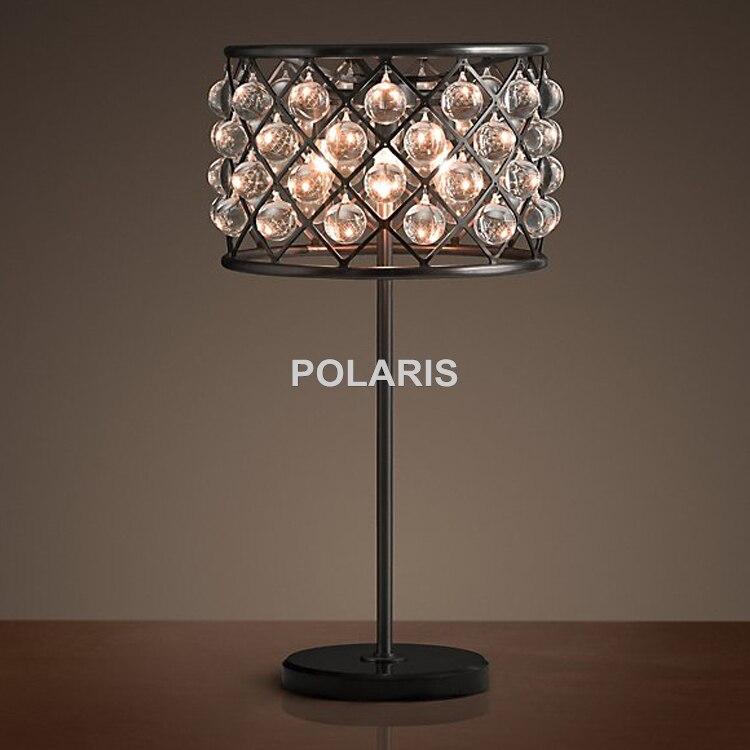 Usine sortie moderne Vintage larme gouttes cristal éclairage lampe de Table lampes de bureau pour la maison hôtel lit chambre décor