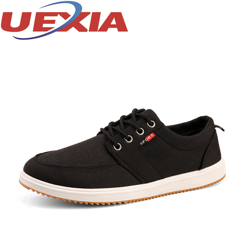 Autumn Casual Canvas Shoes For Men Handmade Shoes Flats Fashion Lace-Up Male Summer Breathable Lace-up Zapatos Hombre Size 39-44 loose fit casual thicken plaid lace up wool pants for men