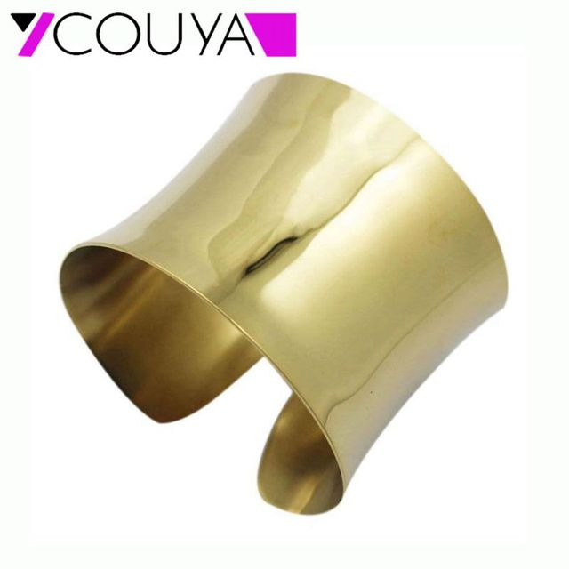 New Fashion Gold Color Women Exaggerated Chunky Indian Cuff Bangles Bracelets Free Shipping