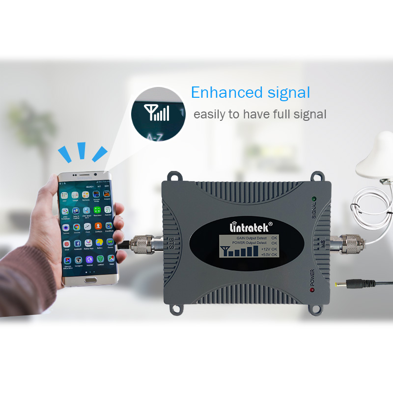 Image 5 - Lintratek 900Mhz GSM Signal Booster 2G Cellphone Signal Repeater GSM 900 65dB Amplifier LCD Display Full Kit KW16L GSM-in Signal Boosters from Cellphones & Telecommunications