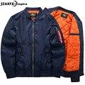 Men Bomber Jacket 3 Color O Neck Flight Pilot Jacket Coat Plus 6XL size mens jackets and coats bomber jacket men brand clothing