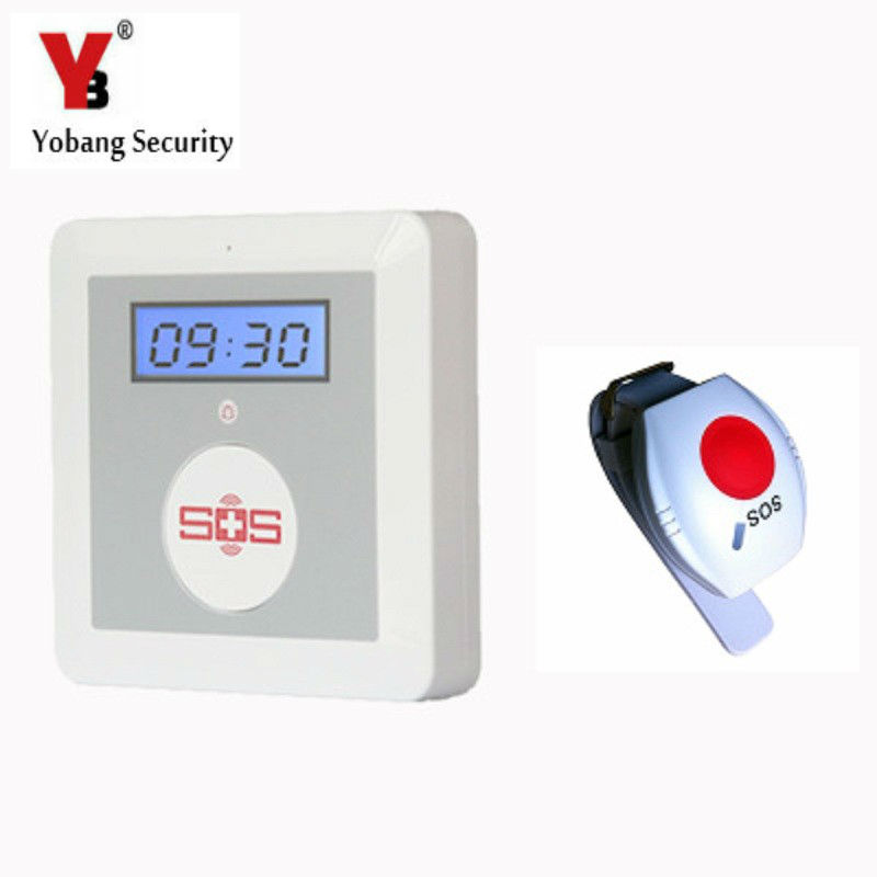 YobangSecurity Android IOS APP Control Quad Band K4 Wireless GSM Elderly Alarm System With Emergency Panic Button mini gsm gps tracker for kids elderly personal sos button track with two way communication free platform app alarm