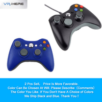 2PCS Discount Sale USB Wired Joystick Gamepad Controller For Xbox 360 Joypad Controller For Microsoft