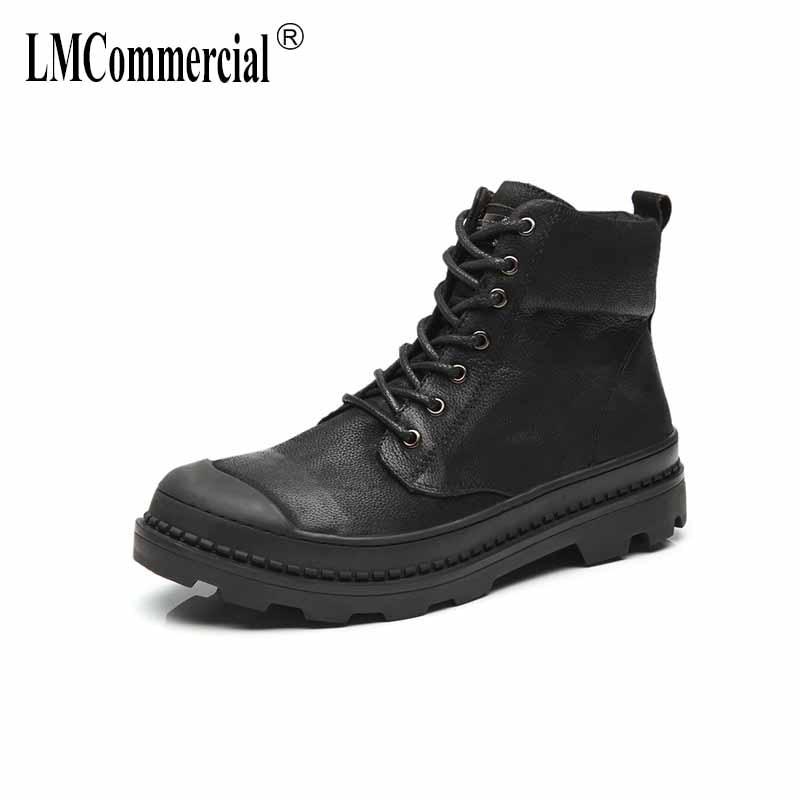 где купить Genuine leather men's casual shoes new autumn winter Martin boots men British retro all-match cowhide breathable Chelsea boots по лучшей цене