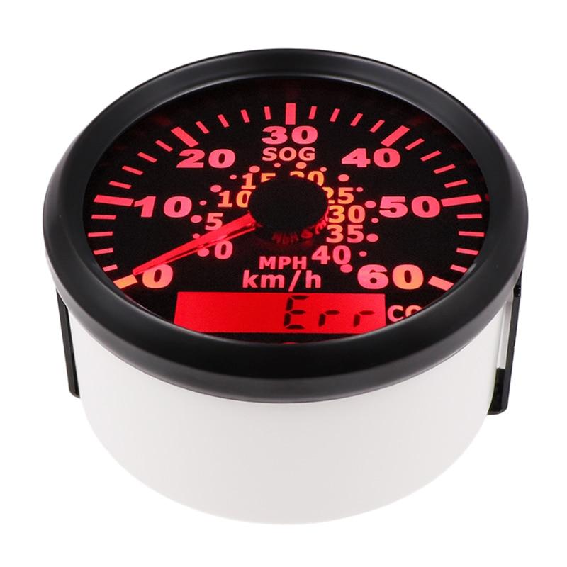 85mm 60KMH GPS Speedometer Odometer IP67 Waterproof Speed Gauge Meter 120KMH with backlight 12V 24V fit Car Truck Boat 52mm digital gps speedometer odometer for car boat with backlight 12v 24v red backlight