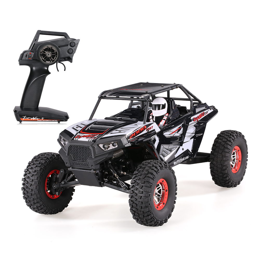 Wltoys 10428-B2 1/10 2.4G 4WD 40km/h Racing RC Car Rock Crawler Off-Road Buggy Climbing SUV RTR Toy With LED Light For Kids игрушка wltoys wlt 10428 d 4wd 1 10